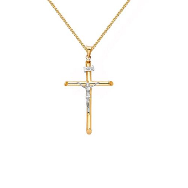 Anthony's Jewelers, gold crucifix and chain