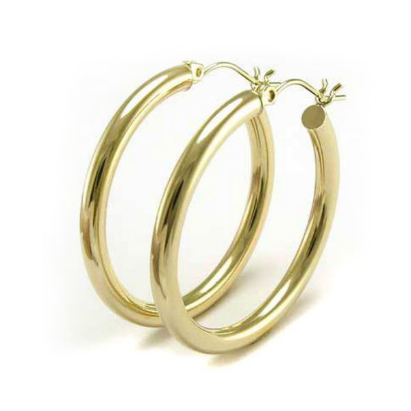 Anthony S Jewelers Gold Hoop Earrings