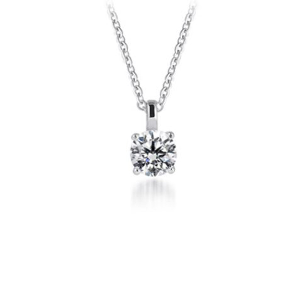 Anthony's Jewelers, round diamond solitaire pendant, diamond pendent, diamond