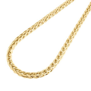 anthony's jewelers, wheat chain, gold wheat chain, necklace