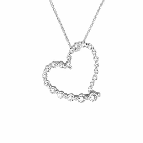 Diamond heart journey pendant anthonys jewelers 800 927 9030 click aloadofball Images