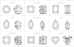 anthony's jewelers, diamond shape chart, diamonds, diamond cut shapes