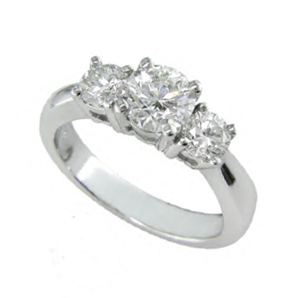 db213347ebb2 Round Diamond 3-Stone Ring - Anthony s Jewelers - (800) 927-9030