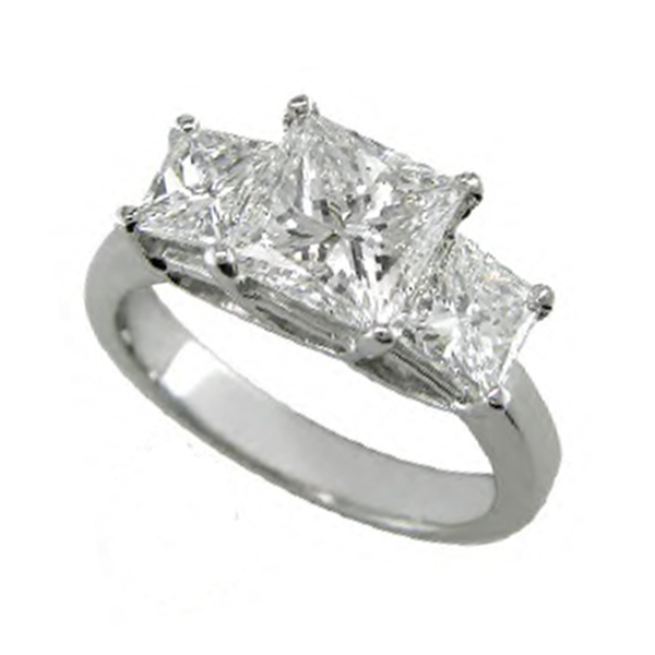 Princess Cut Diamond 3 Stone Rings