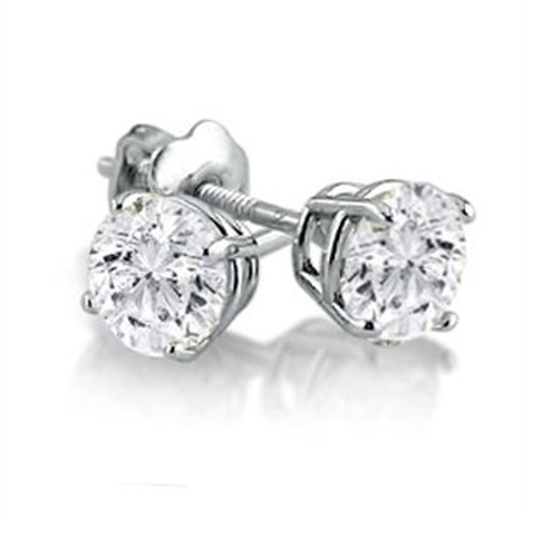 Round Diamond Earrings Investment Quality