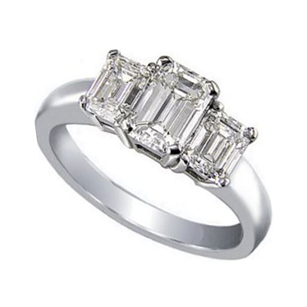 stone diamond gold in white cut three shape qrtr w halo solitaire with rings emerald ring