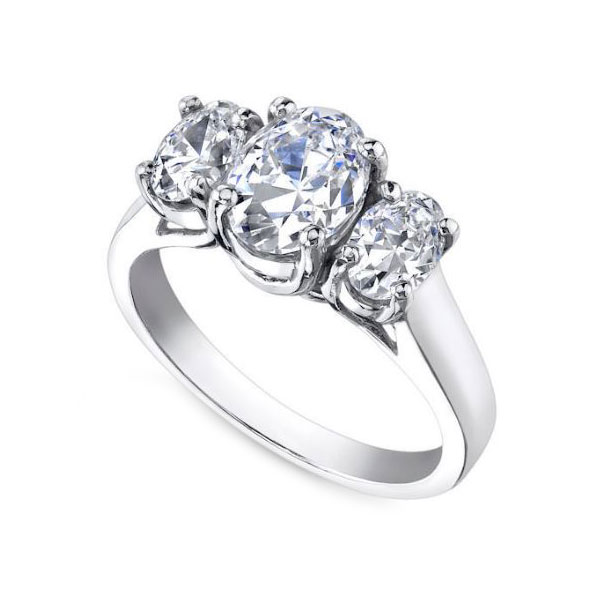 wedding product ring diamond white bridal rings charm centres gold stone three