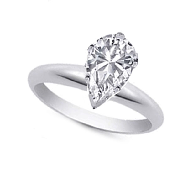 6d7380bf9 Pear Shape Diamond Solitaire Engagement Ring - Anthony's Jewelers - RI