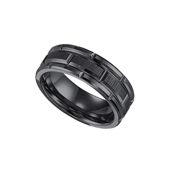 tungsten triton ring amp inlay men wedding with artcarved mens wood of s carbide togeteher bands