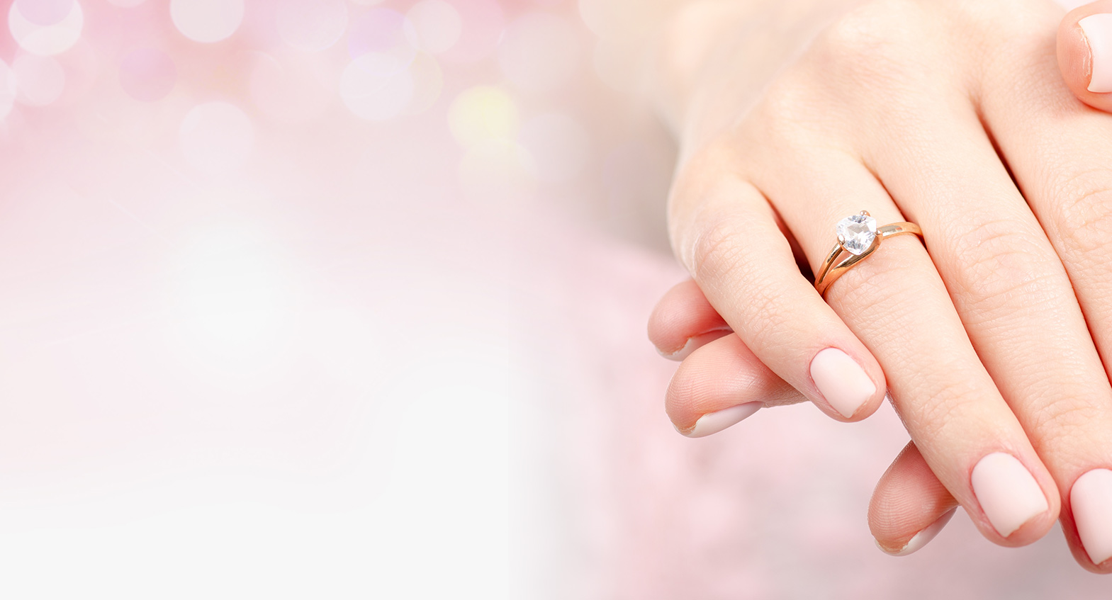 Women with Engagement Ring
