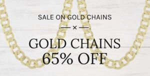 Gold Chain Sale Banner