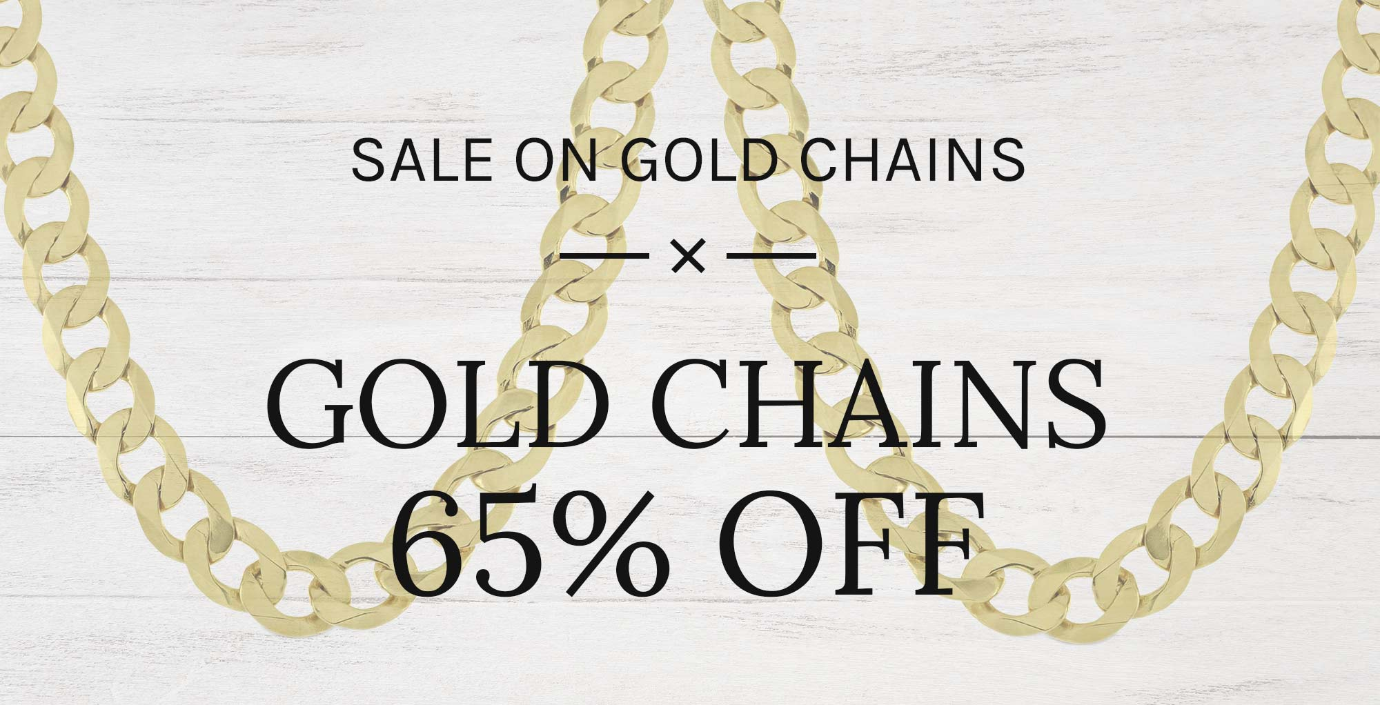 Gold Chain Sale Banner