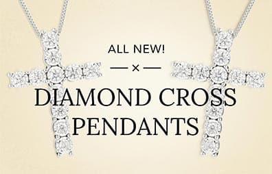 Diamond Cross Pendants Banner