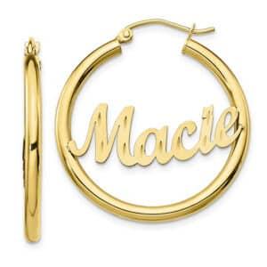Personalized Hoop Earrings