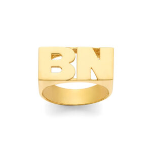 Personalized Large Name Ring