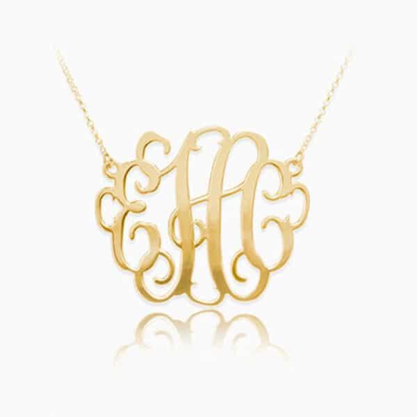 Personalized Monogram Pendant Gold
