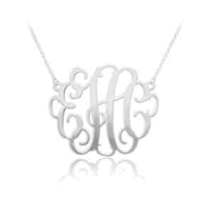 Personalized Monogram Pendant Silver
