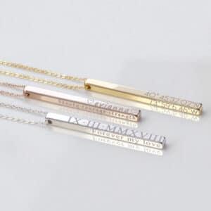 Vertical Engravable Bar