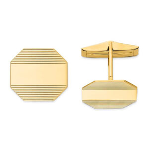 Gold Engravable Cuff Links